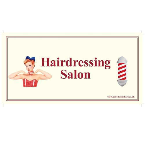 Picture of Door Sign  - Hairdressing Salon©