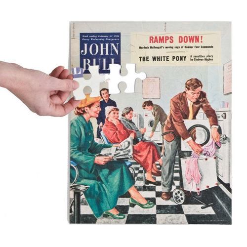 Activities to Share - 30 Large Piece Puzzle - 1950s Launderette©