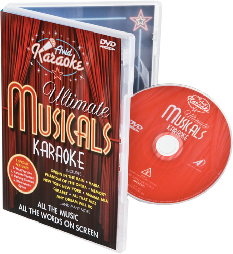 Picture of Ultimate Musicals Karaoke DVD