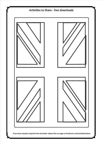 Picture of Union Jack Colouring Activity