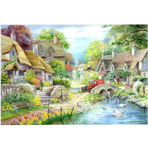 Picture of 250 Large Piece puzzle - Riverside Cottage