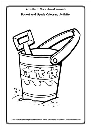 Picture of Bucket and Spade Colouring Activity