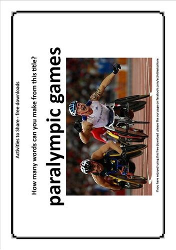 Picture of Paralympic Word Puzzle