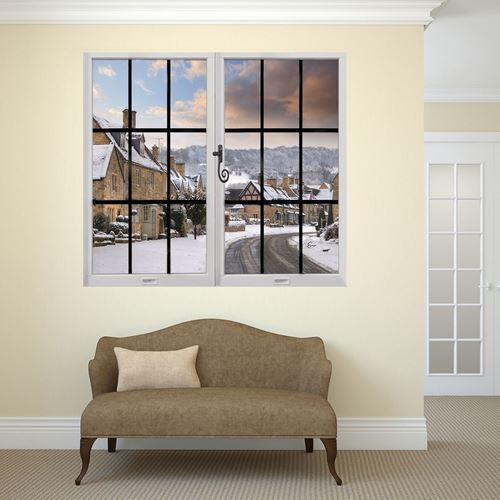 Picture of Through the Window Wall Mural - Winter View