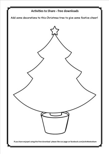 Picture of Christmas Tree Craft Activitiy