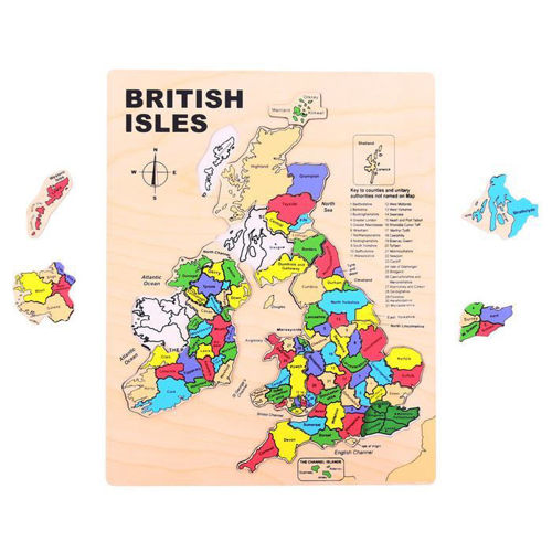 Picture of 29 Large Piece Wooden Puzzle - UK