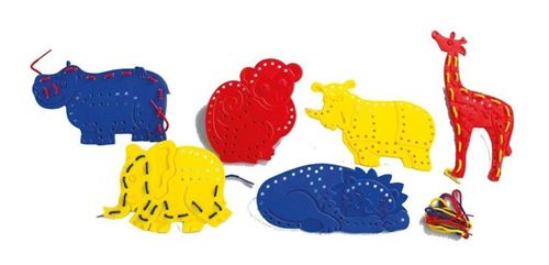 Picture of Lacing Jungle Animals (Set of 6)