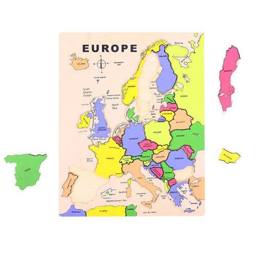 Picture of 19 Piece Wooden Europe Puzzle