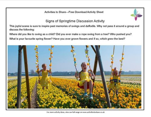 Picture of Signs of Springtime Discussion Activity