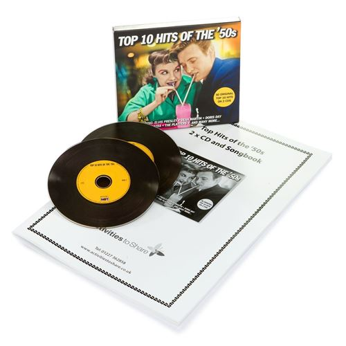 Picture of Top Ten Hits 1950s 2 x CD +Songbook