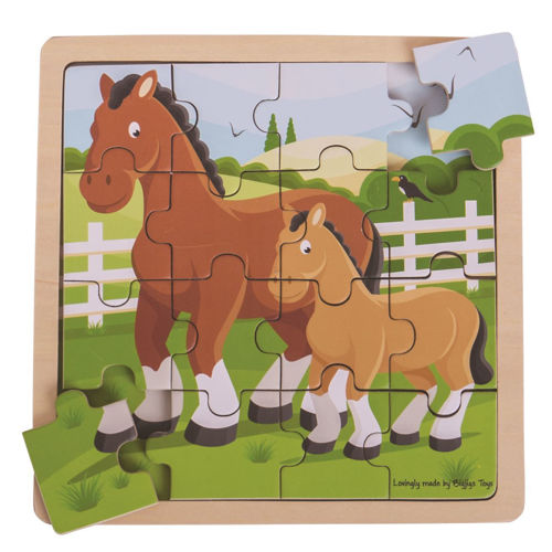 Picture of 16 Large Piece Puzzle - Horse & Foal
