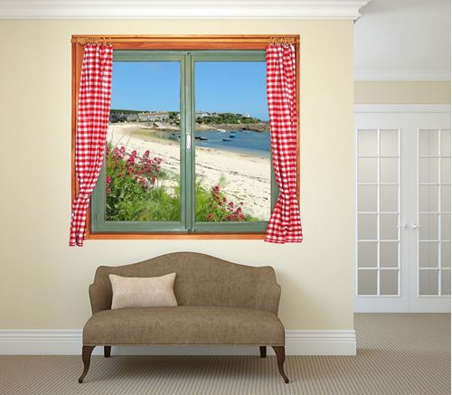 Picture of Through the Window Wall Mural - A View From a Fisherman's Cottage