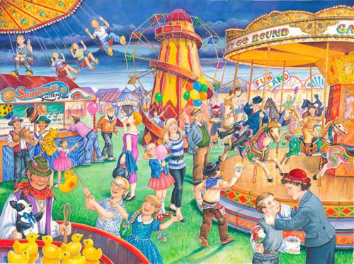 Picture of 250 Large Piece Puzzle - Fairground Rides