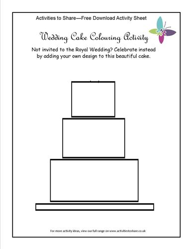 Picture of Wedding Cake Colouring Activity