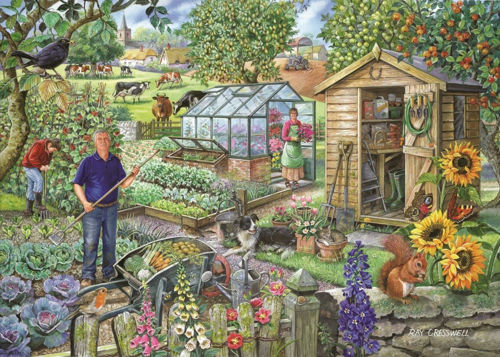 Picture of 500 Large Piece Puzzle - At the Allotment