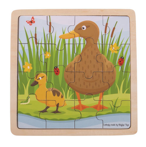 Picture of 16 Large Piece Wooden Puzzle - Duck and Duckling