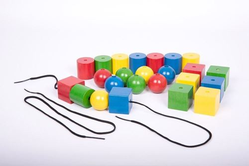 Picture of Giant Wooden Lacing Beads (pk 24)