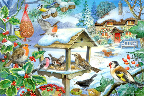Activities to Share - 250 Large Piece Puzzle - Feed the Birds