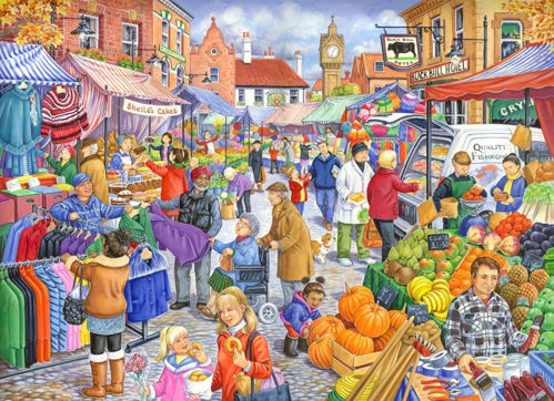 Picture of 250 Large Piece Puzzle - Market Day