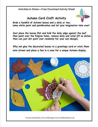 Picture of Autumn Card Craft Activity