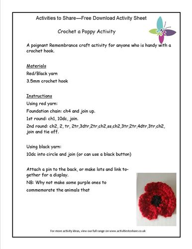 Picture of Crochet a Poppy Activity