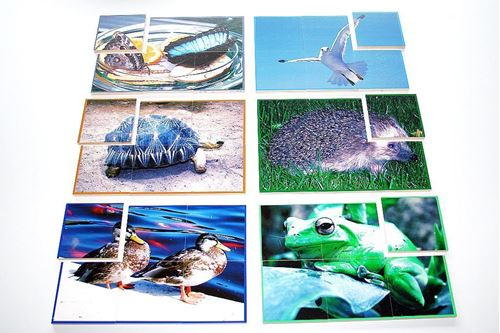 Picture of 6 Large Piece Animal Puzzle (Set of 6)