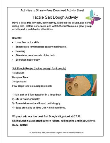 Picture of Tactile Salt Dough Activity