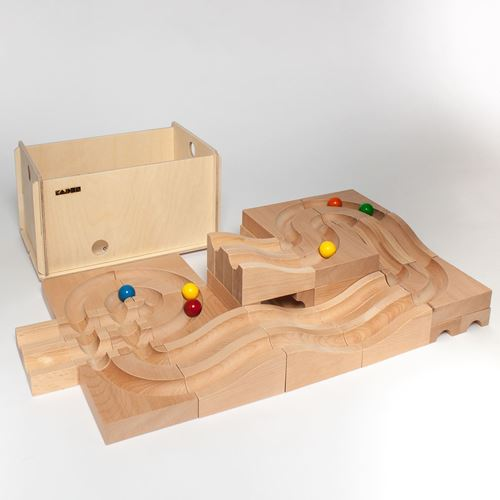 Picture of Deluxe Wooden Ball Track - Waves With Case XL (28 Piece)