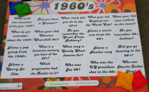 Activities to Share - 1960 Reminiscence Floor Mat