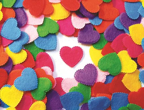 Picture of Felt Hearts (Pack of 100)