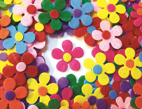 Picture of Felt Flowers (Pack of 100)
