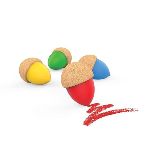 Picture of Cork Grip Acorn Crayons (Pack of 4)