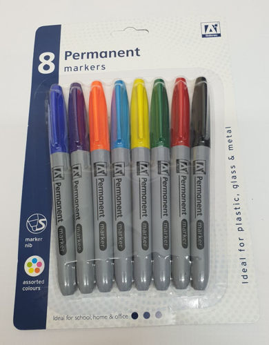 Picture of Permanent Markers (Set of 8 assorted colours)
