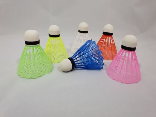 Picture of Colourful Shuttlecock (Pack of 6)
