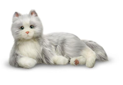 Joy For All Companion Cat - Silver and White 'Silky'