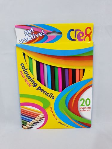 Picture of Colouring Pencils (Pack of 20 Assorted)