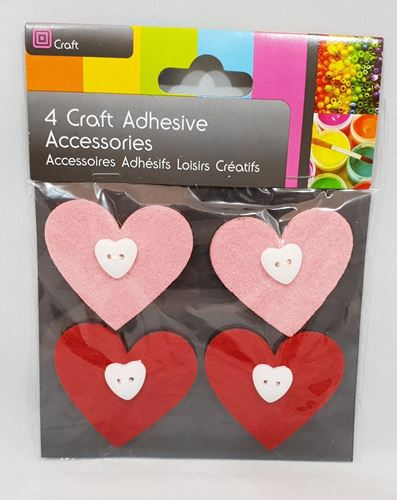 Picture of Craft Felt Hearts (Pack of 4)