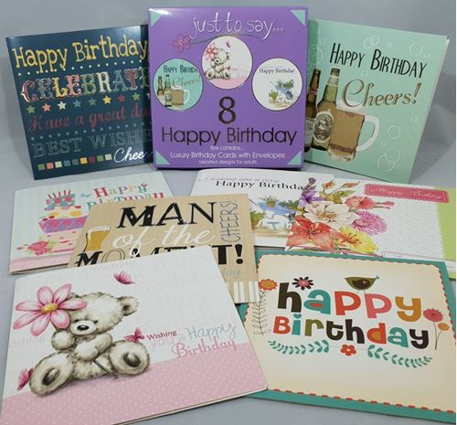 Picture of Happy Birthday Cards (Pack of 8)