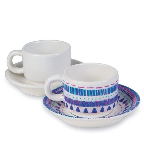 Picture of Ceramic Cup and Saucer Set (Pack of 12)