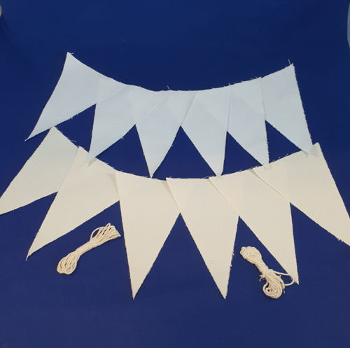 Picture of DIY Plain Linen Bunting Set (12 Pennants)