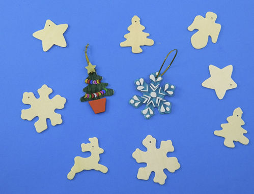 Picture of Paint Your Own Wooden Christmas Decorations (Pack of 50)