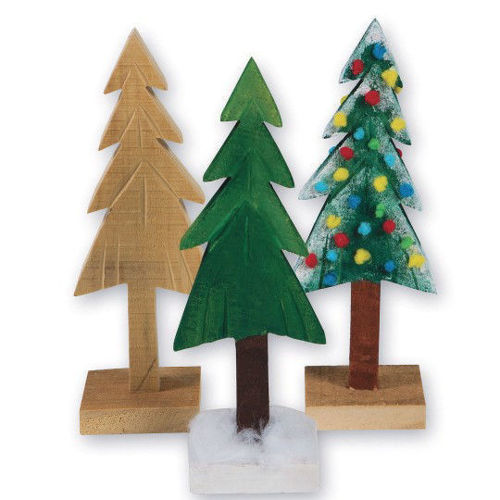 Picture of Wooden Pine Tree to Decorate (Pack of 6)