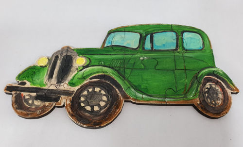 Picture of Hand Crafted Wooden Puzzle - Vintage Car (7 Pieces)