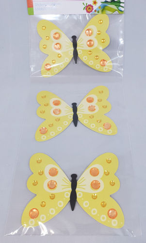 Picture of Butterfly Embellishments (Pack of 3)