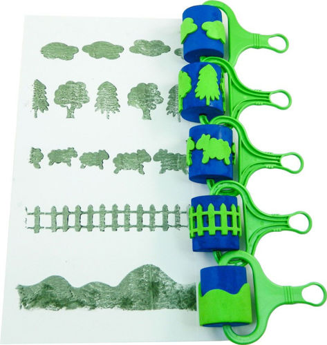 Picture of Country Scene Rollers (Set of 5)