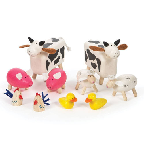 Picture of Farmyard Wooden Animal Set (10 Pieces)