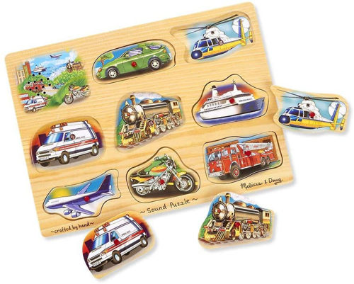 Picture of 8 Piece Classic Vehicle Peg Puzzle (With Sounds)