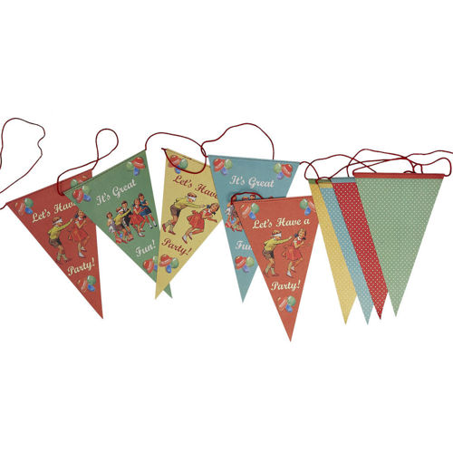 Picture of Vintage Paper Bunting - Let's Party