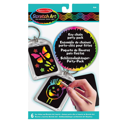 Picture of Scratch Art Key Ring (Set of 6)