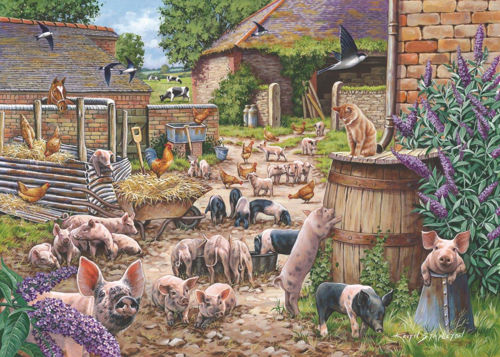 Activities to Share - 250 Large Piece Jigsaw Puzzle - Piglet Pandemonium, extra large 3.6cm pieces for easy grip